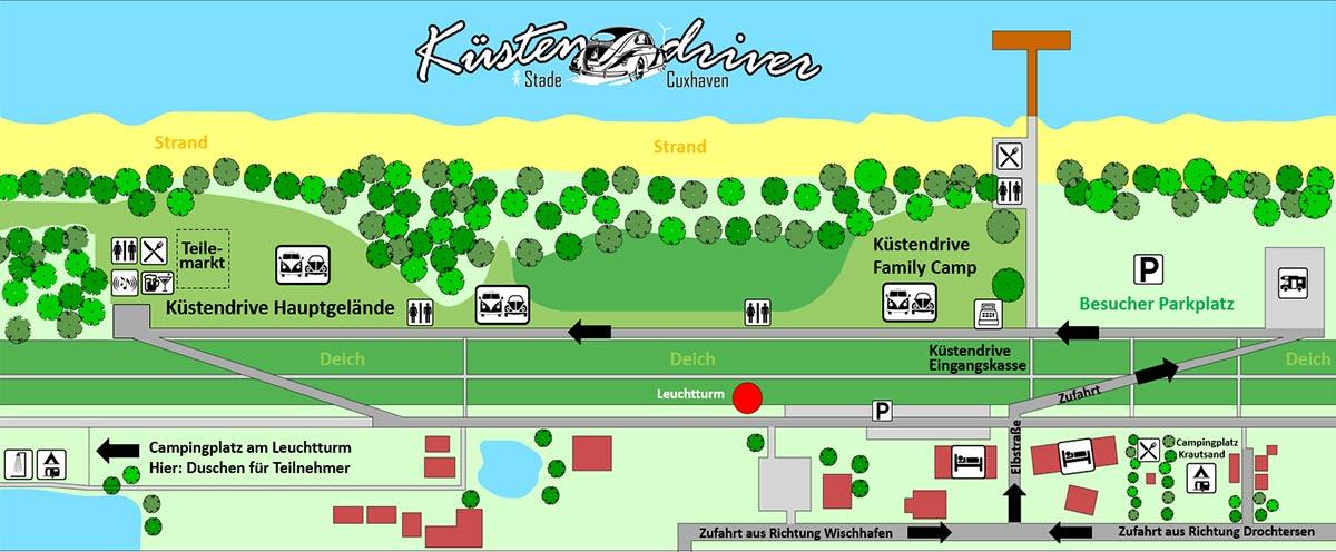 Küstendrive Platzplan